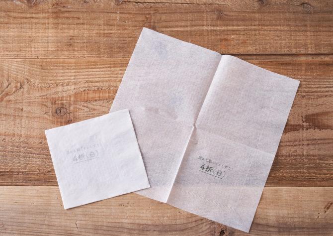 卓上紙ナプキン 4折 白の写真